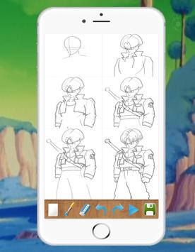 Drawing DBZ Characters step by step screenshot 2