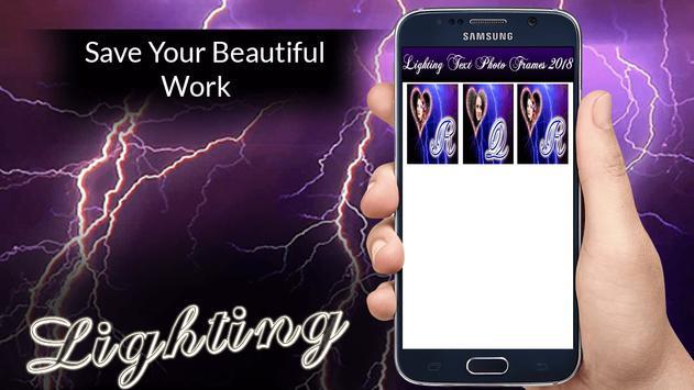 Lighting Text Photo Frames 2018 screenshot 4