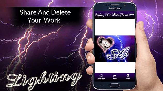Lighting Text Photo Frames 2018 screenshot 5