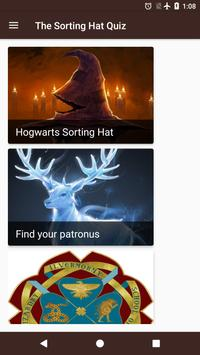 The Sorting hat & Patronus quiz from Pottermore poster