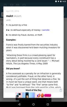 Dictionary - Merriam-Webster apk screenshot