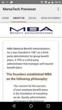 MBA BENEFIT ADMINISTRATORS screenshot 1