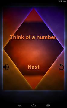 Think of a number! apk screenshot