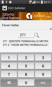 EGO Otobüs Hareket Saatleri screenshot 1