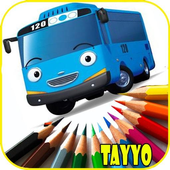 New Game Coloring Tayo Bus icon