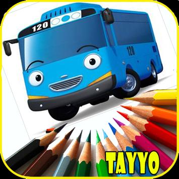 New Game Coloring Tayo Bus poster