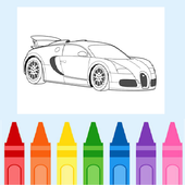 Coloring Racing Car icon