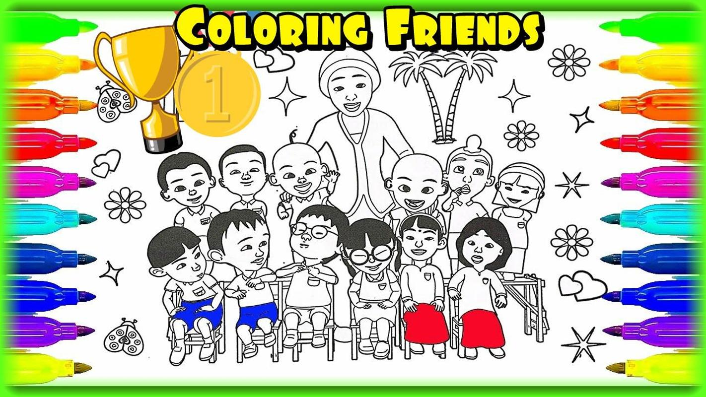Coloring Ipin and Friends poster