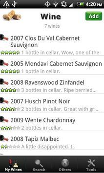 Wine - List, Ratings & Cellar poster