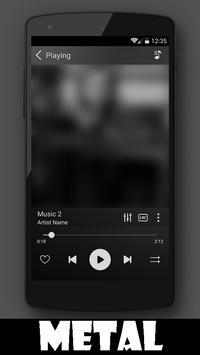 Metal Music Player apk screenshot