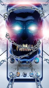 Metal Tech Skull Theme poster