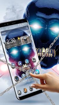 Metal Tech Skull Theme screenshot 1