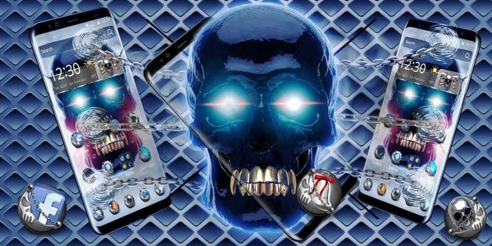 Metal Tech Skull Theme screenshot 3