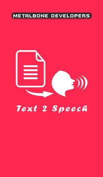 Text 2 Speech poster