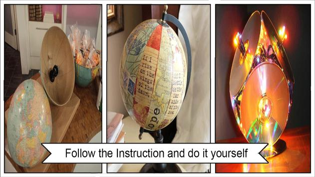 Simple DIY Recycled Globe Lamp poster