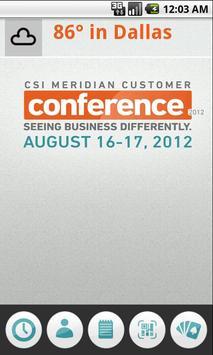 CSI Meridian Customer Conf poster