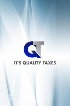 ITS QUALITY TAXES poster