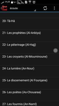 Quran traduction française mp3 apk screenshot