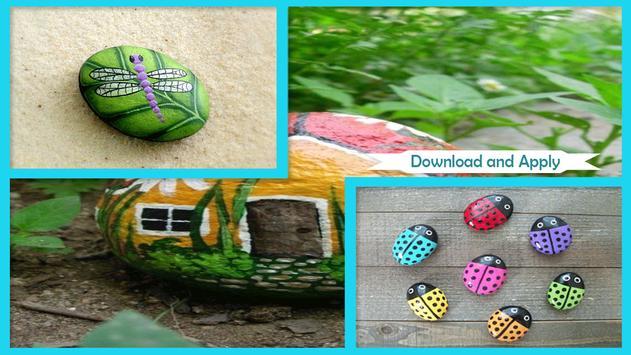 Creative DIY Ladybug Painted Rocks poster
