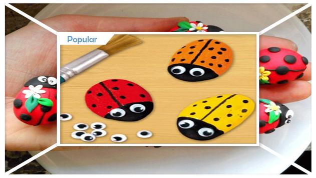 Creative DIY Ladybug Painted Rocks screenshot 1
