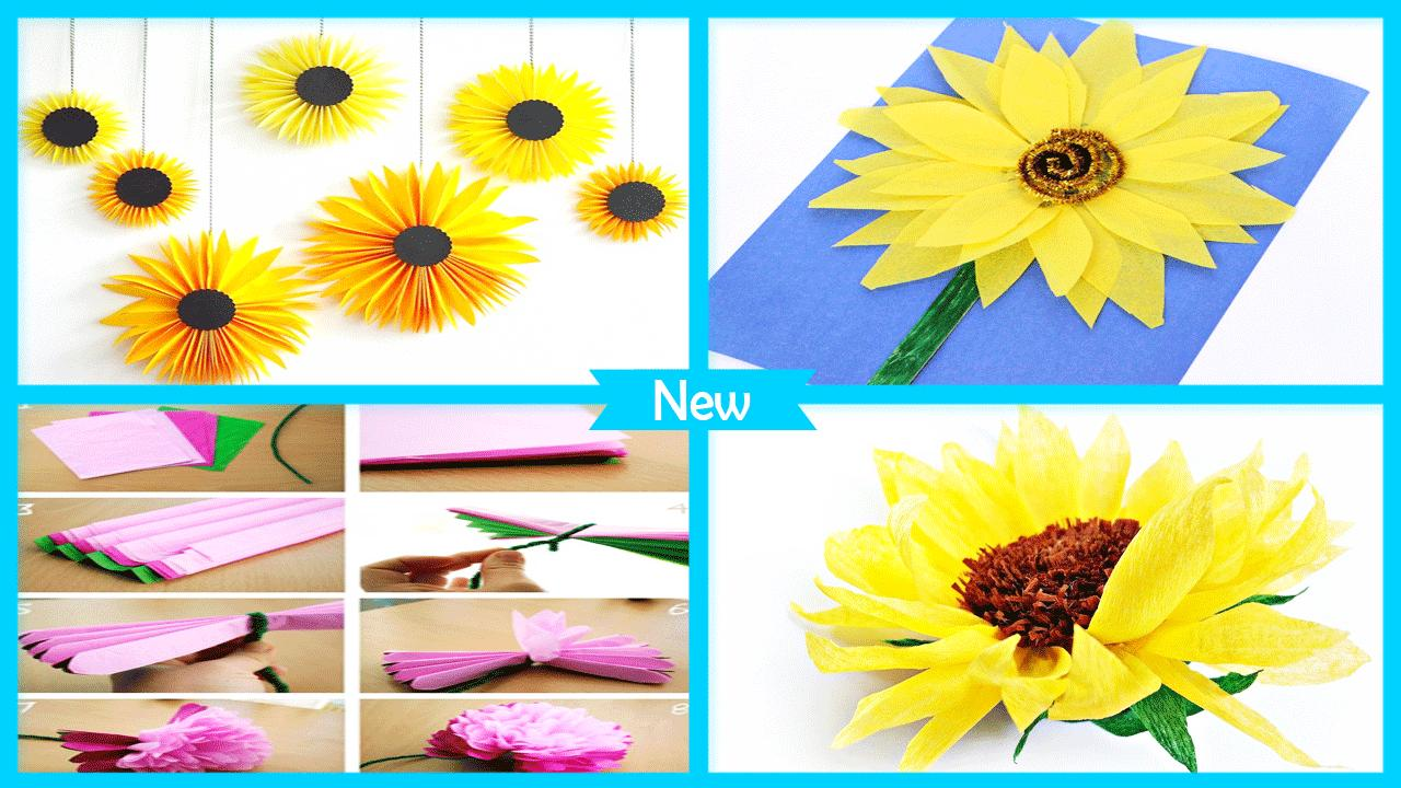 Easy Diy Tissue Paper Sunflower Craft For Android Apk Download