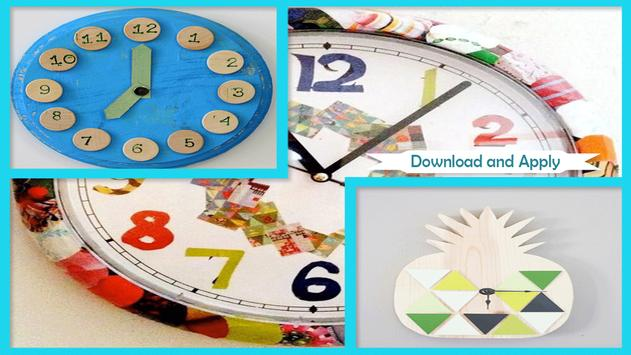 Easy DIY Paper Clock poster