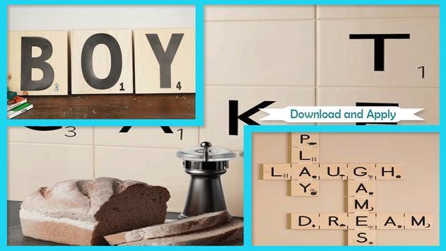 Easy DIY Scrabble Wall Art poster