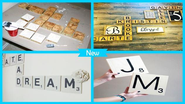 Easy DIY Scrabble Wall Art screenshot 3
