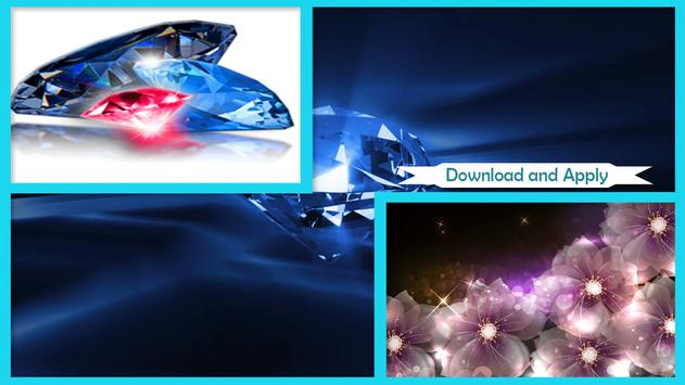Shiny Diamonds Live Wallpaper poster