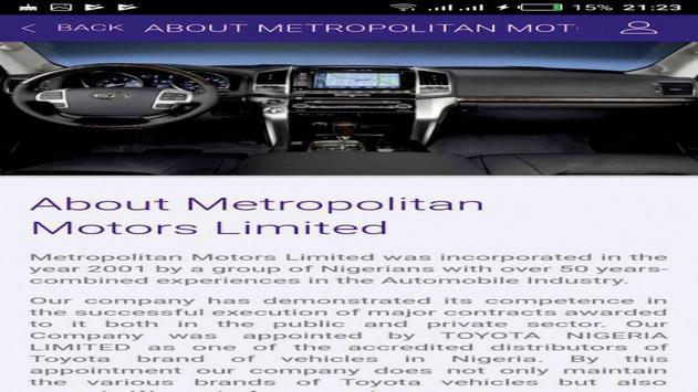 METROPOLITAN MOTORS NG screenshot 7