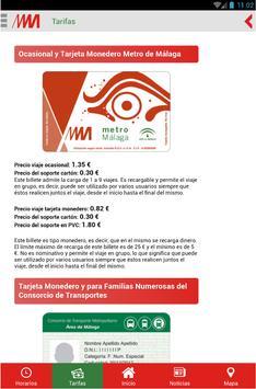 Metro de Málaga Oficial apk screenshot