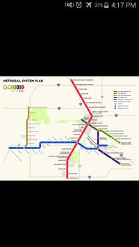 Houston Light Rail Map poster
