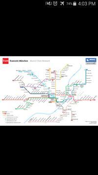 Munich Tram Map poster