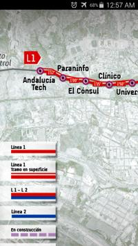 Malaga Metro Map apk screenshot