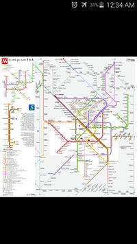 Milan Metro & Rail Map poster