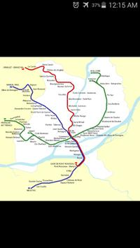 Nantes Tram Map poster