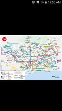 Barcelona Metro & Rail Map poster