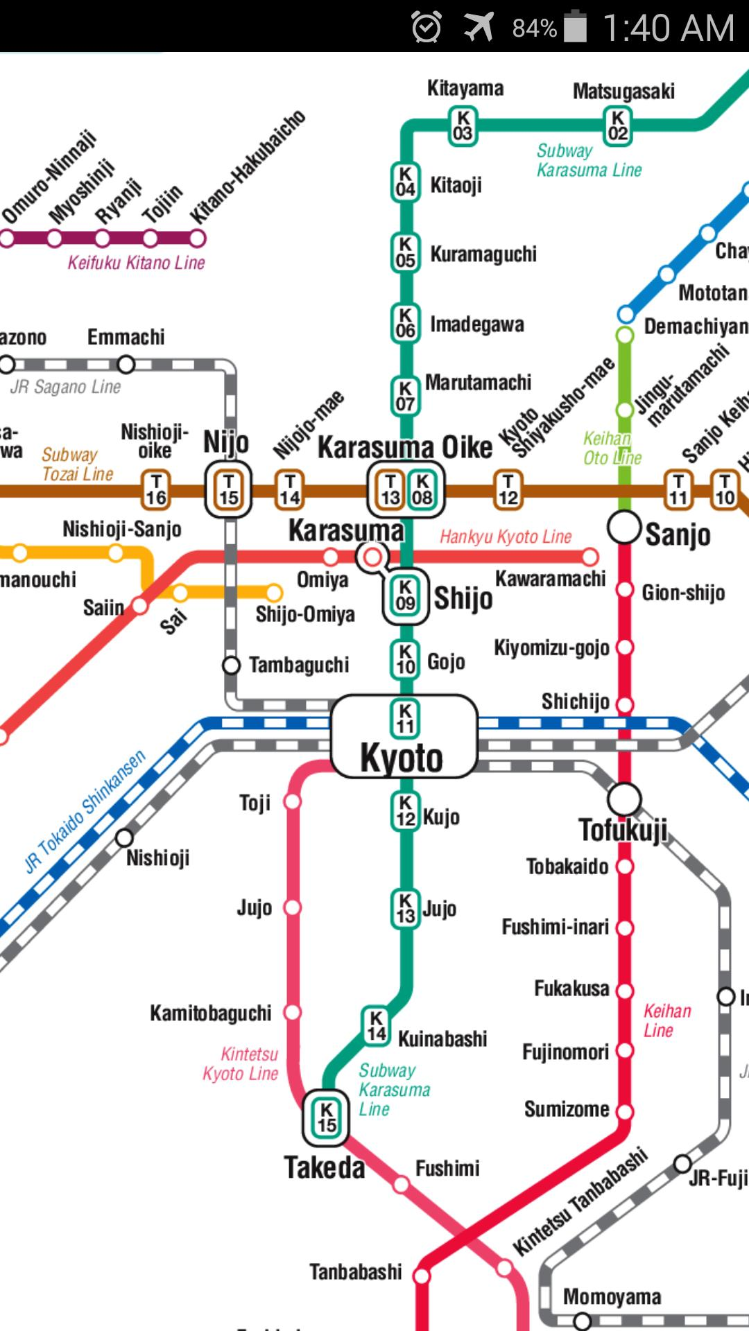 Subway Map Kyoto.Kyoto Metro Map For Android Apk Download