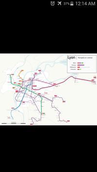 Lyon Metro & Tram Map poster