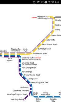 Sheffield Supertram Map apk screenshot