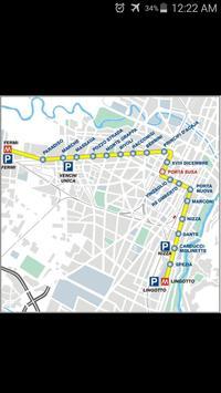 Turin Metro Map poster