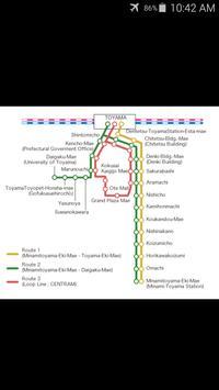 Toyama Tram Map poster