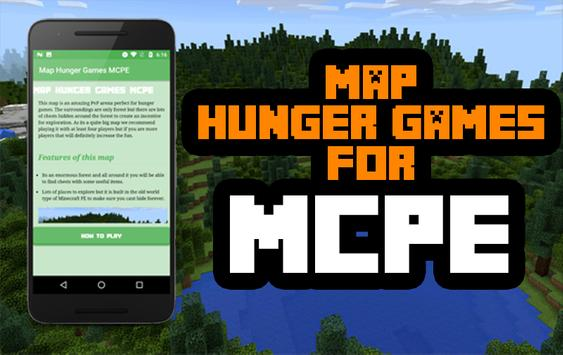 Map Hunger Games for MCPE poster
