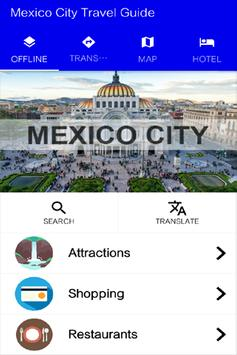 Mexico City Travel Guide poster
