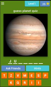 planet quiz for kids poster