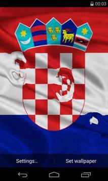 Flag of Croatia poster