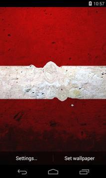 Flag of Latvia Live Wallpaper poster