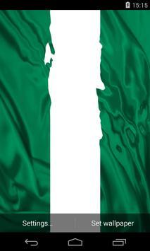 Flag of Nigeria Live Wallpaper poster