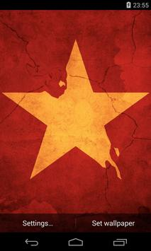 Flag of Vietnam Live Wallpaper poster