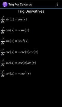 Trig For Calculus apk screenshot